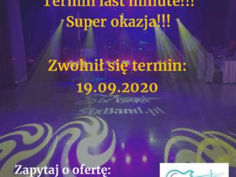 Wolny termin: 19.09.2020!!!